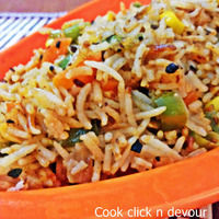 Fried Rice- Schezwan style